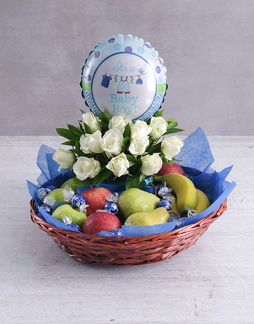 basket: Baby Boy Fruit Fantasy Basket!