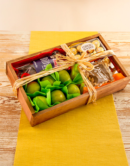 birthday: Rustic Gift Crate of Fruit and Snacks!