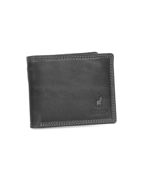 polo: Polo Tuscany Billfold and Flap Wallet Black!