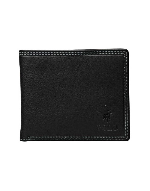 apparel: Polo Tuscany Billfold and Flap Wallet Black Large!