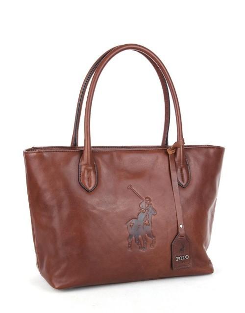 polo: Polo Colorado Tote Handbag Brown!