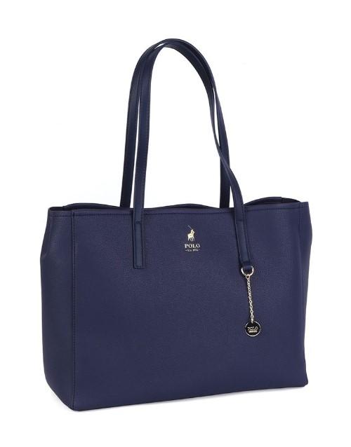 polo: Polo Lyone Pebble Tote Handbag Navy!