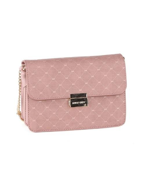 sissyboy: Sissy Boy Printed Denim Sling Handbag Pink!