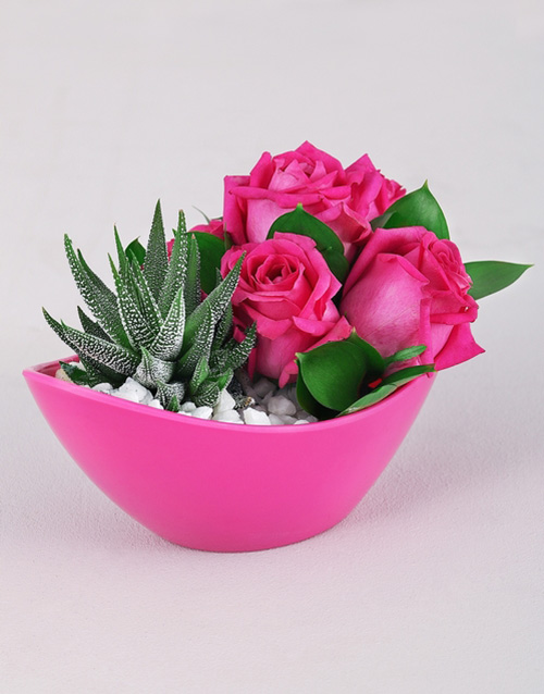 flowers: Cerise Rose and Succulent Delight in Bulk!