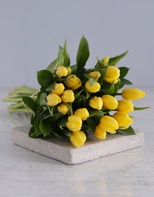 prices: Yellow Tulip Bouquet!