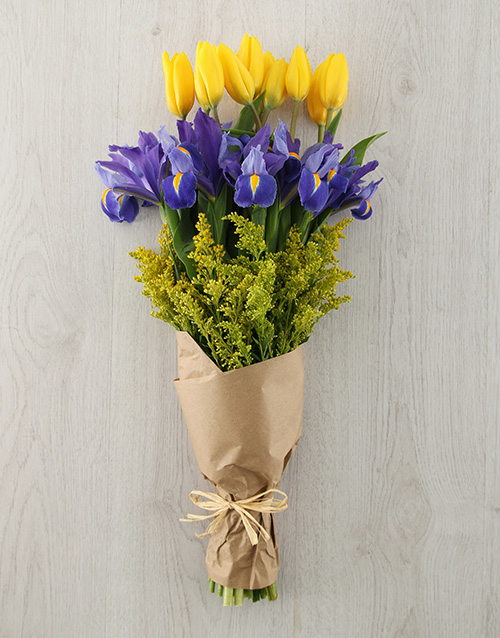 tulips: Tulip and Iris Bouquet!