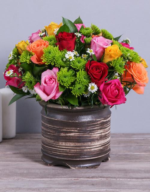 apology: Colourful Rose & Spray Arrangement!