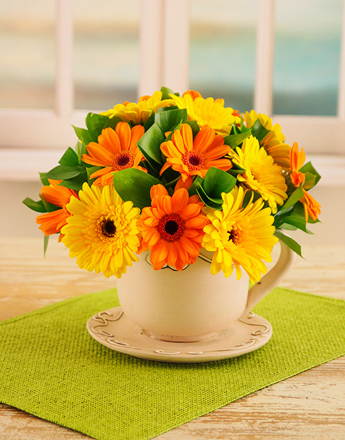 flowers: Vibrant Cup of Blooms!