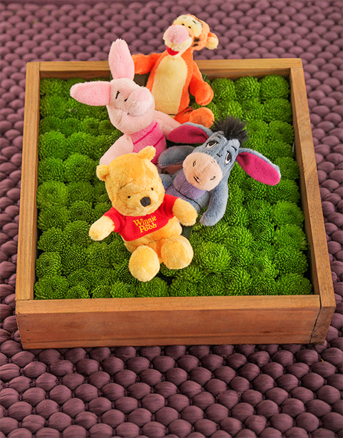 teddy-bears: Winnie the Pooh and Friends Flower Box!