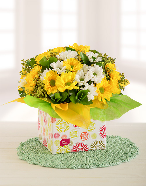 friendship: Yellow and White Sprays in a Box!