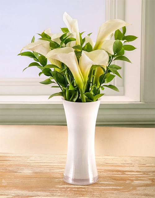 lilies: Timeless Elegance Arum Lily Arrangement!
