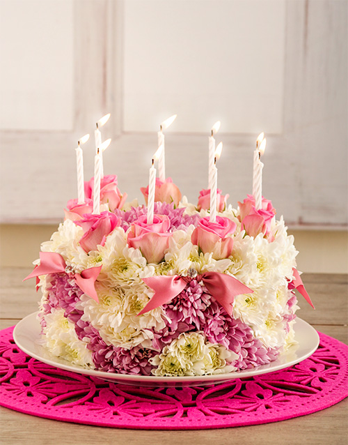 colour: Pretty in Pink Flower Cake!