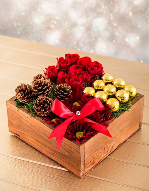 roses: Christmas Box Arrangement!