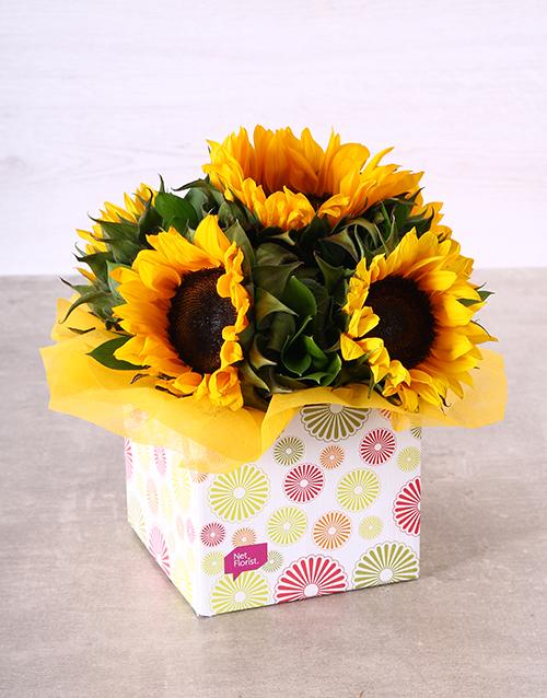sunflowers: Sunflowers in Circle Box!