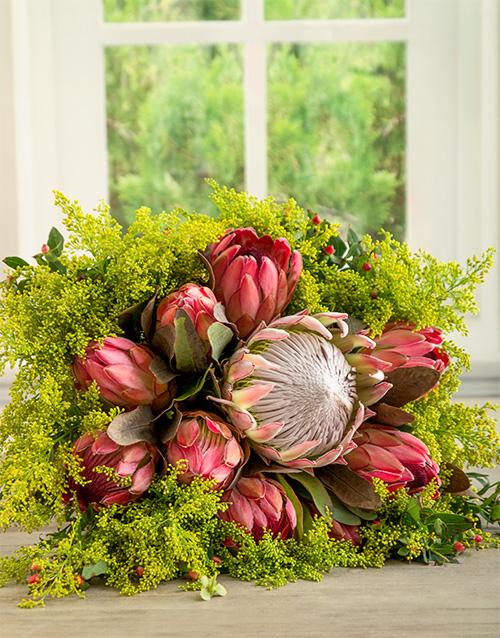 Flowers: She Said Protea Grace Bouquet!