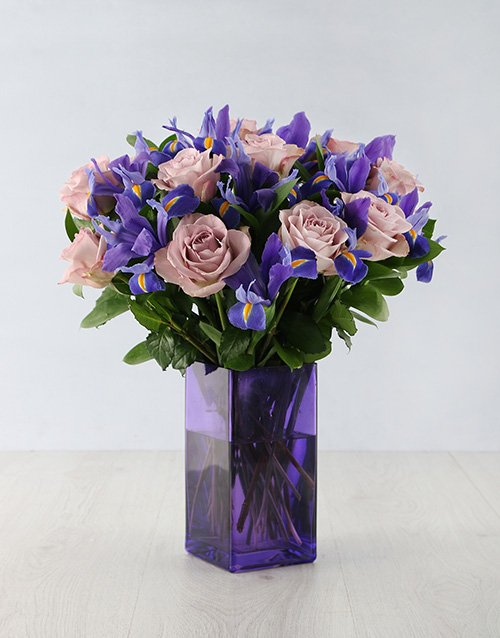 colour: Iris Masterpiece in Purple Vase!
