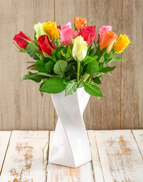 flowers: White and Bright Arrangement!