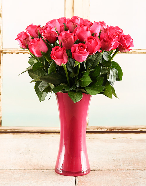 vase: Pink Inspiration Rose Vase!