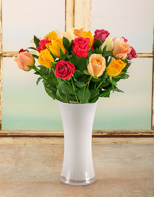 roses: Bright Summer Day Arrangement!