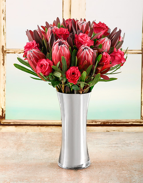 vase: Protea Beauty Arrangement!