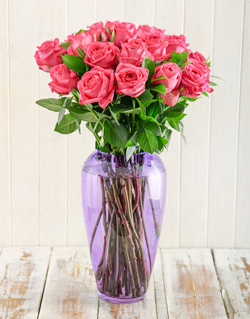 coloured-vases: Pink Flirt Arrangement!
