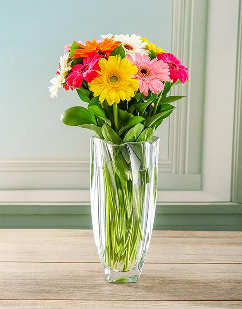 flowers: Glamorous Gerbera Crystal Vase!