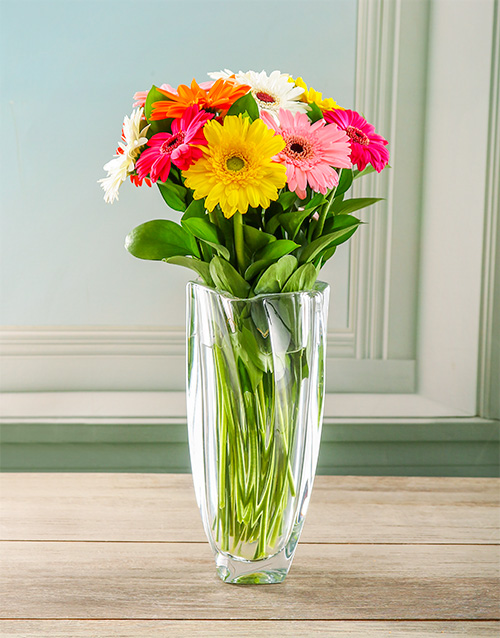 colour: Glamorous Gerbera Crystal Vase!