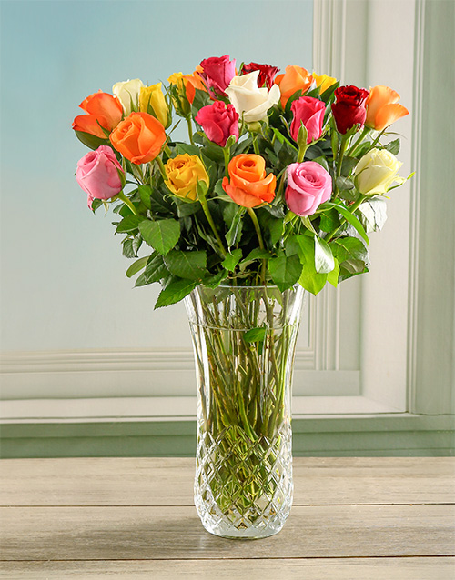 luxury: Opulent and Bright Rose Crystal Vase!