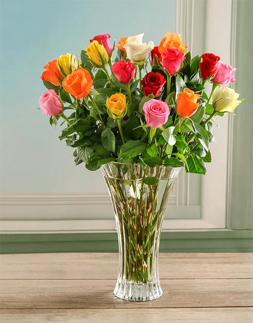 roses: Magic Mixed Crystal Vase!