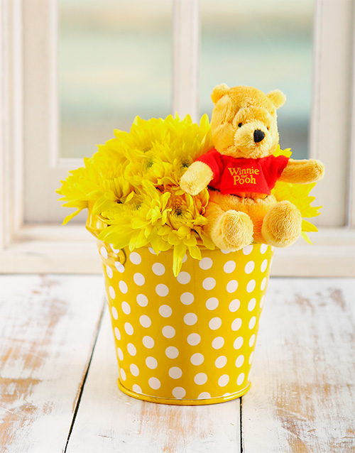 colour: Yellow Poo Bear Flower Bucket!