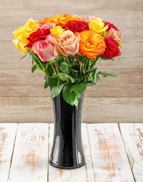 colour: A Touch of Class Giant Ethiopian Roses Arrangement!