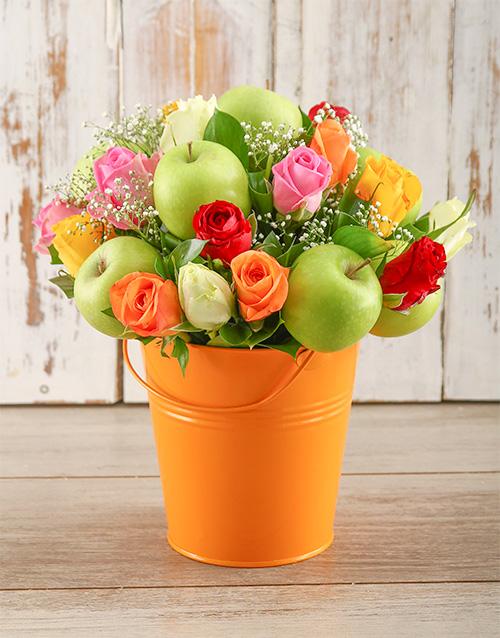 roses: Orange Happiness Bucket!