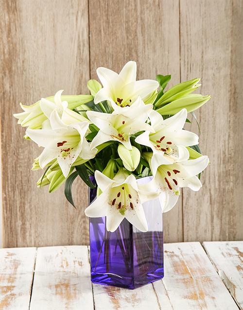 lilies: Purple Galaxy Arrangement!