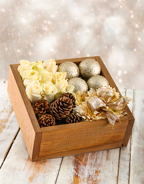 flowers: Silver Bells Christmas Crate!