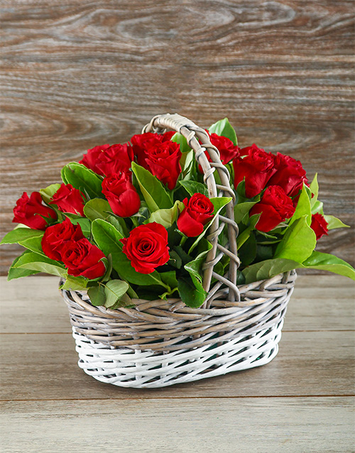 flowers: Sweetheart Red Rose Basket!