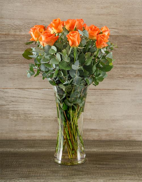 roses: Sunset Arrangements!
