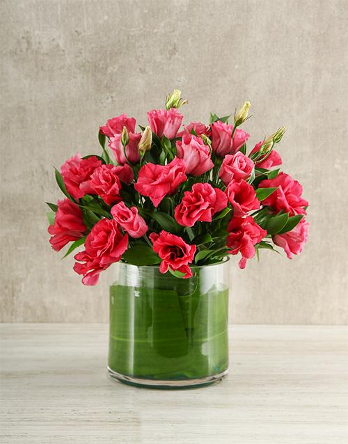 seasonal: Pink Lisianthus Vas!