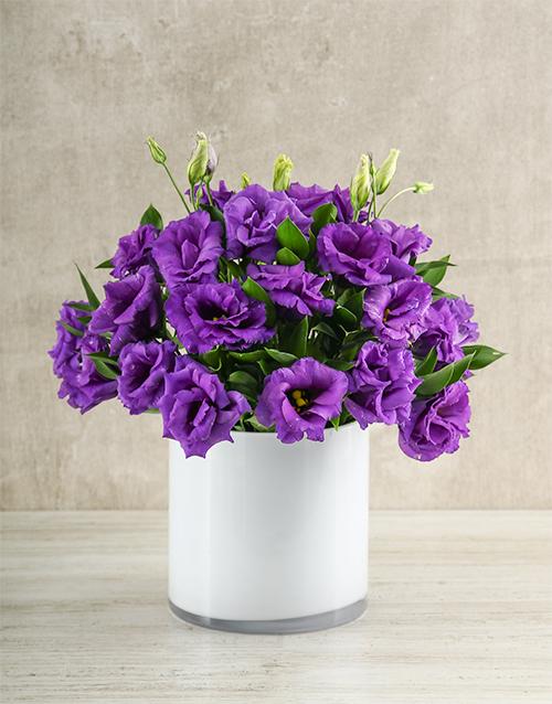 seasonal: Vibrant Purple Lisianthus Vase!