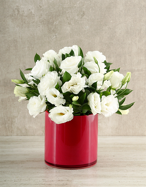 coloured-vases: Pink and White Lisianthus Delight!
