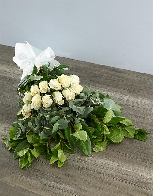 flowers: Mystical White Rose Bouquet!