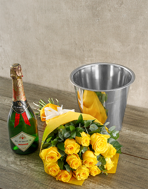 flowers: Romantic Yellow Rose Bouquet and JC le Roux!
