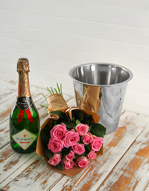colour: Pink Rose Bouquet,JC Le Roux and Ice Bucket!