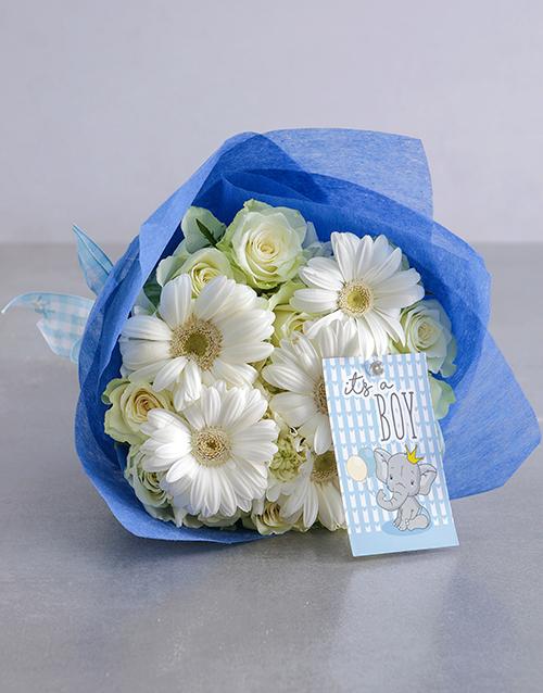 colour: Baby Boy White Florals!