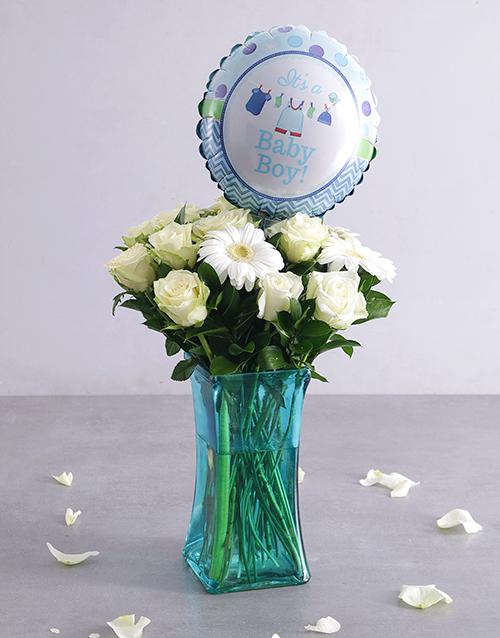 flowers: Baby Boy Floral Arrangement!