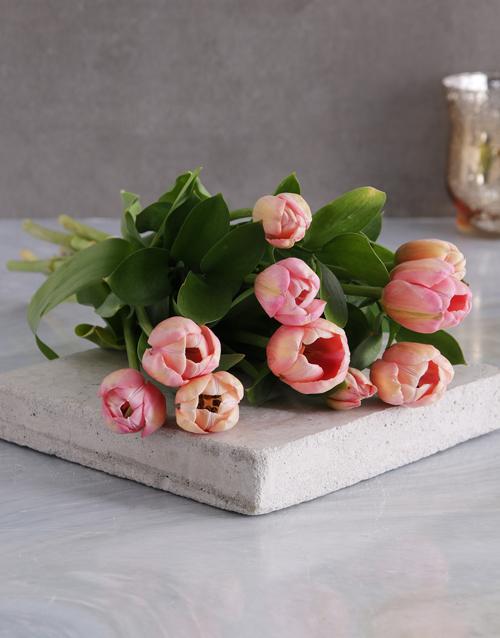 tulips: Pink Tulip Bouquet!