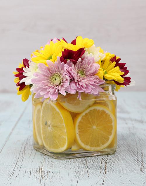 colour: Orange Breeze in a Square Vase!