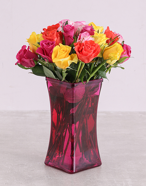 colour: The Pink Lady Roses in a Vase!