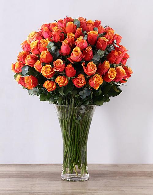roses: Cherry Brandy Supreme Flair Vase!