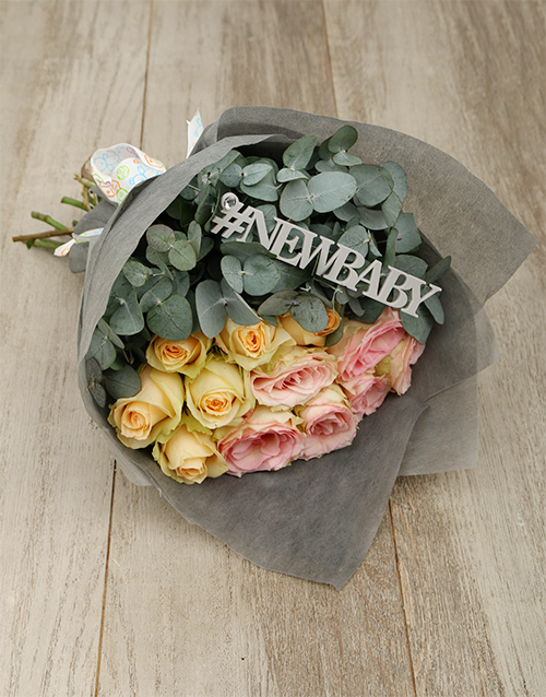 bouquets: New Baby Pastel Rose Bouquet!
