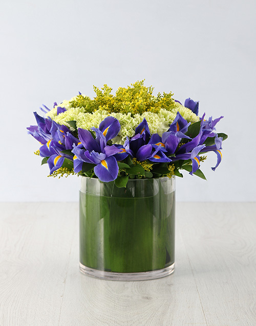 flowers: Royal Iris Crown Arrangement!